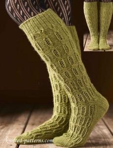 Knitting Pattern For Thigh High Socks : Socks and slippers knitting patterns
