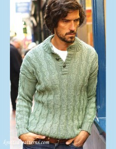 Knitting Patterns For Mens Half Sweaters : Mens pullovers and sweaters knitting patterns