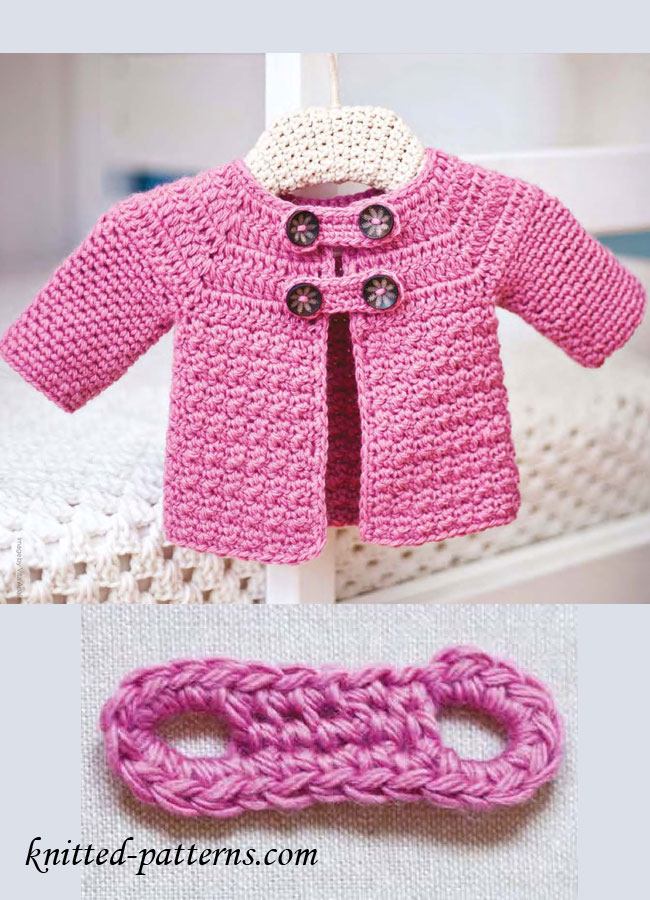 Crochet Baby Coat Pattern : Buttoned Baby Jacket