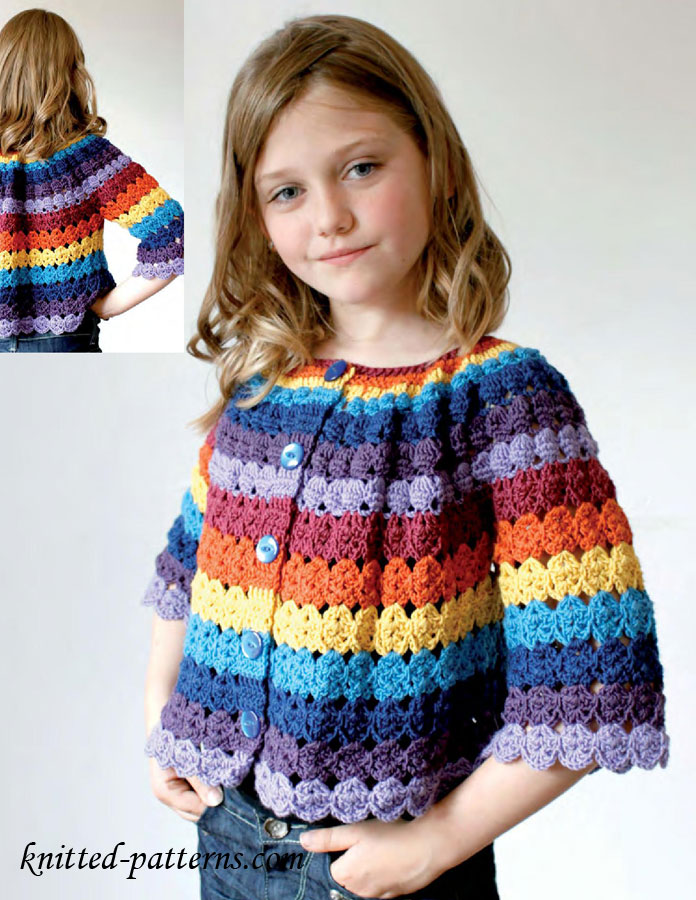 Free Crochet Pattern Little Girl Sweater : Crochet cardigan free pattern