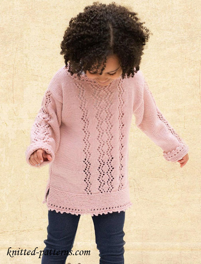 Free Knitting Patterns For Teenage Sweaters : Zigzag sweater for girl