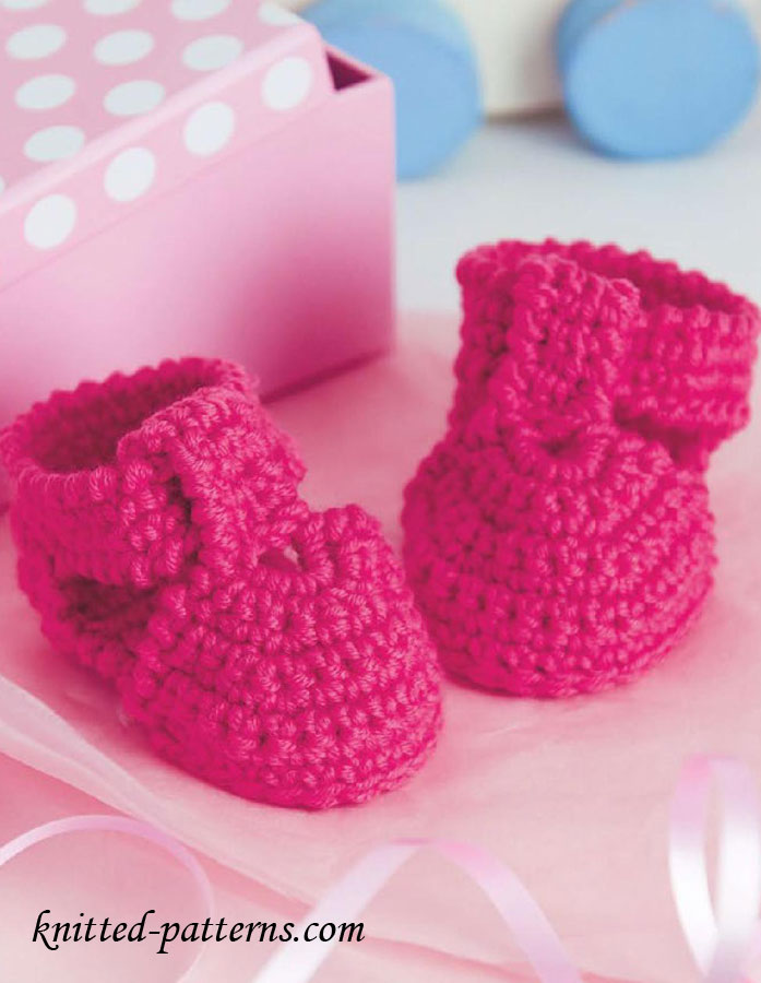 Knitted Baby Sandals Free Pattern : Free Crochet Baby Sandals