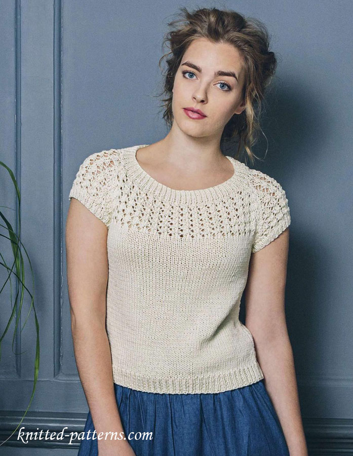 Summer top free knitting pattern for Pattern shirts for women