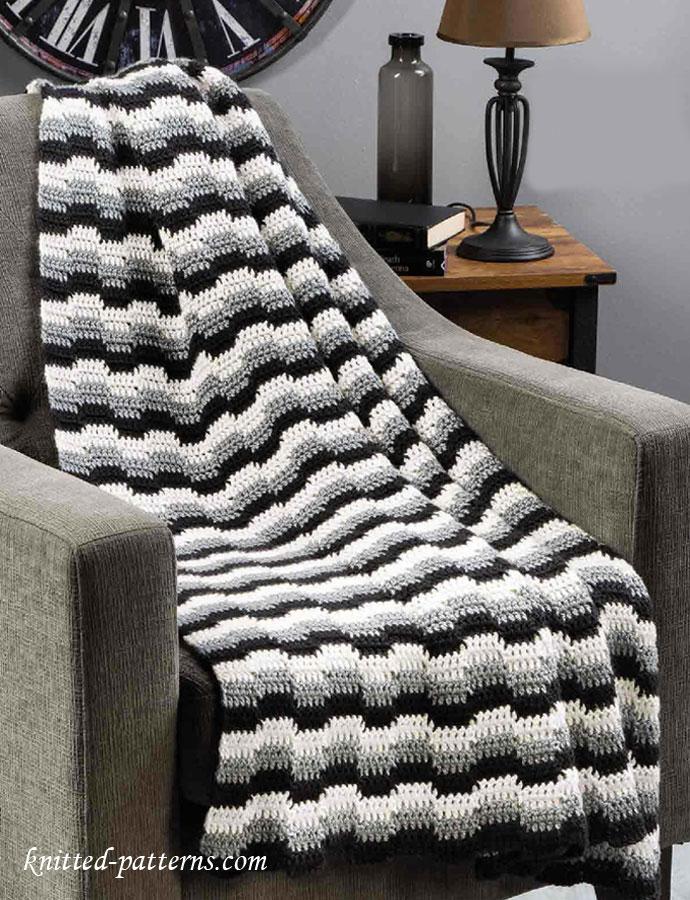 Crochet zig zag afghan pattern free
