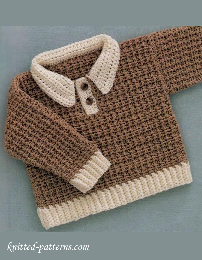 Knitting Websites Canada : Baby boy pullover crochet free pattern