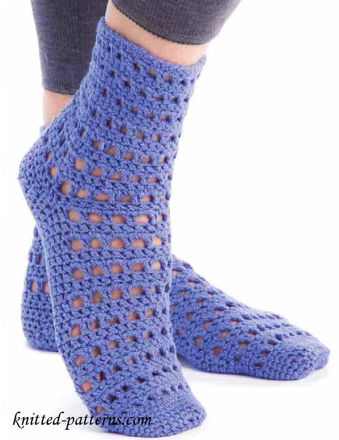 Funky Easy Knit Socks Pattern Motif - Blanket Knitting Pattern Ideas ...