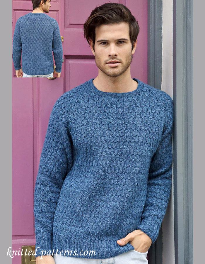 Men's jumper knitting pattern free
