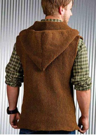 Mens sleeveless jacket crochet pattern free