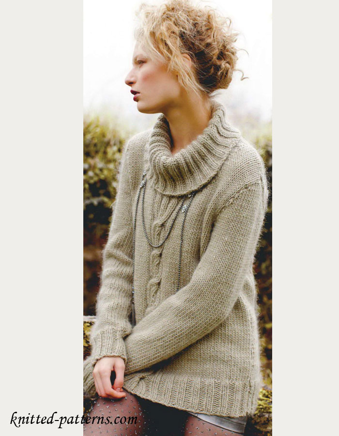 Knitting Women S Work : Women s sweater knitting pattern free
