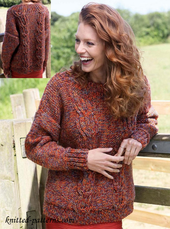 Cable Jumper Knitting Pattern Free