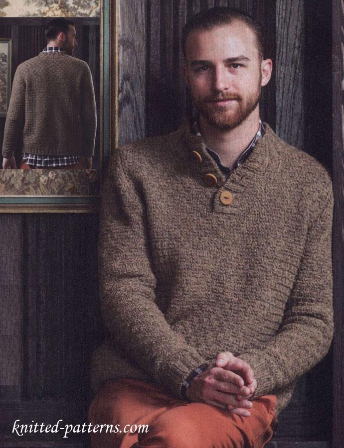 Poncho Sweater Mens