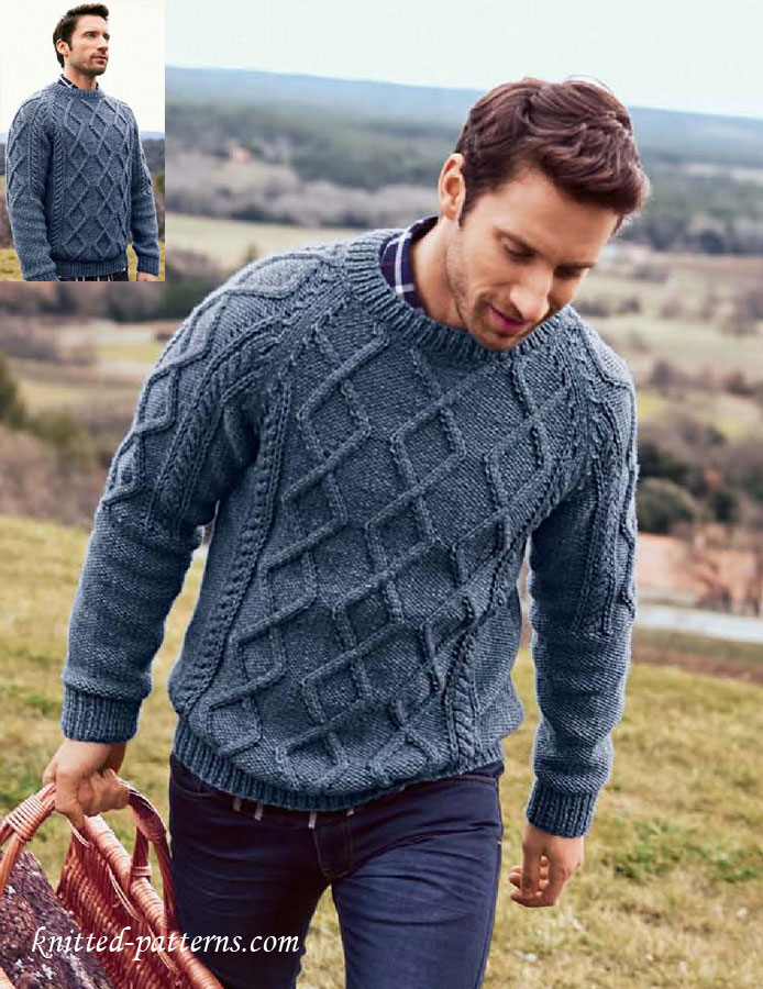 Knitting Pattern: Sweater With Cable Pattern