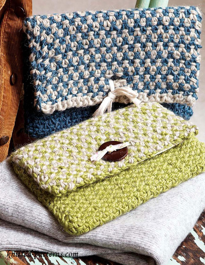 Knitting Accessories Bag : Clutch bag knitting pattern free