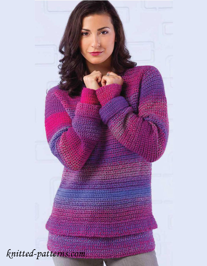 Knitting Women S Work : Women s pullover crochet pattern free