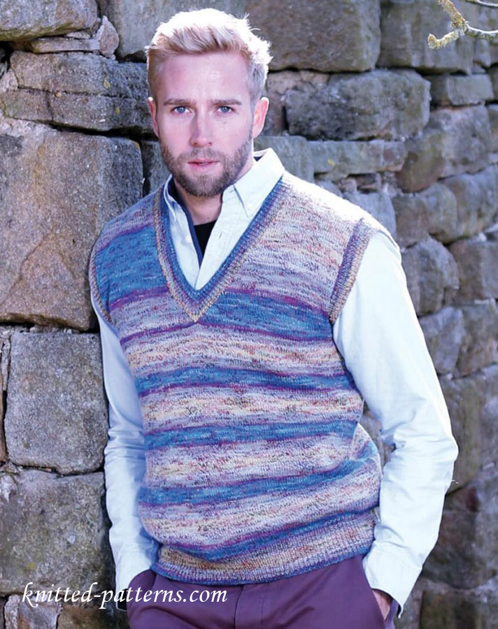 Men S Slipover Knitting Pattern Free