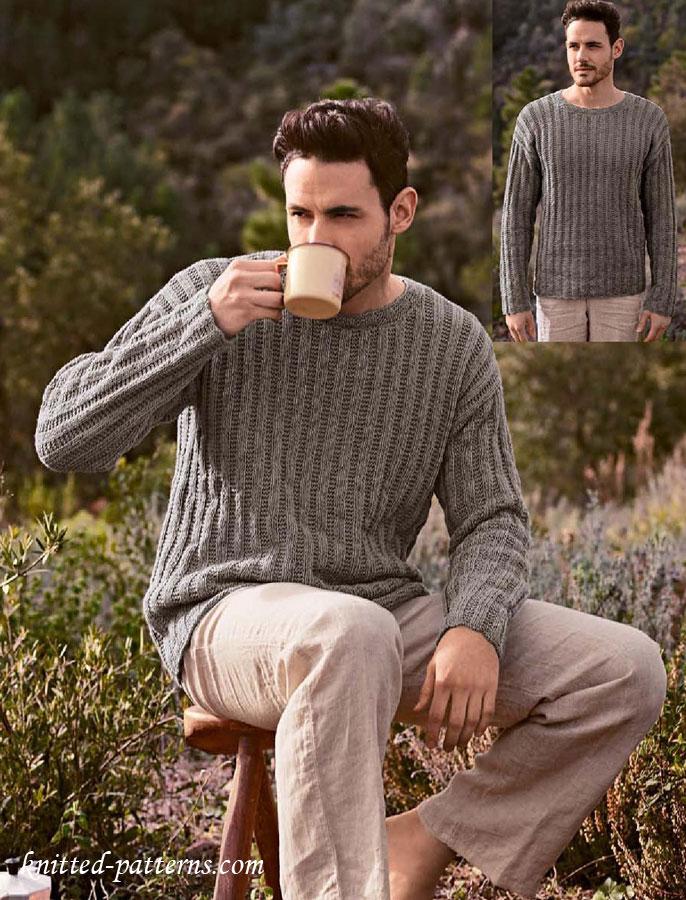Round Neck Sweater Knitting Pattern Free