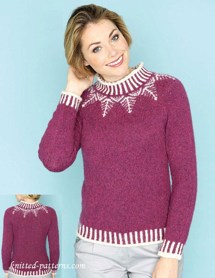 Fair isle yoke sweater knitting pattern free