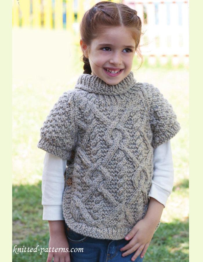 Girl S Raglan Pullover Knitting Pattern Free