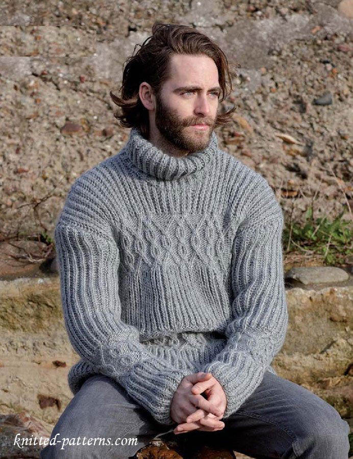 Cable Sweater For Men S Knitting Pattern Free