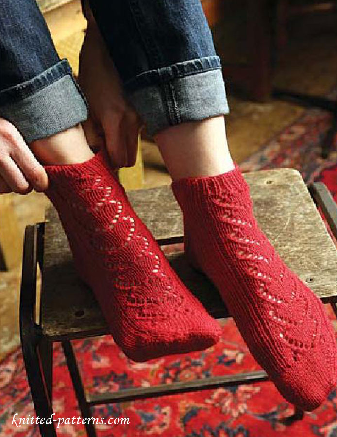 Encantador Knitting Pattern For Mens Socks Cresta - Ideas de ...