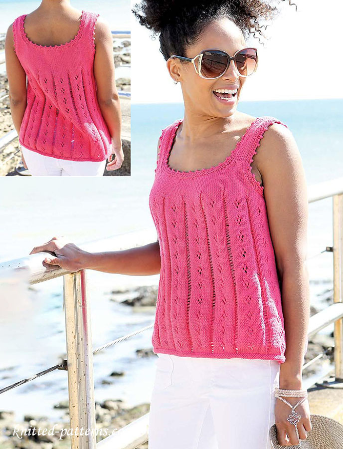 Summer vest top knitting pattern for Pattern shirts for women