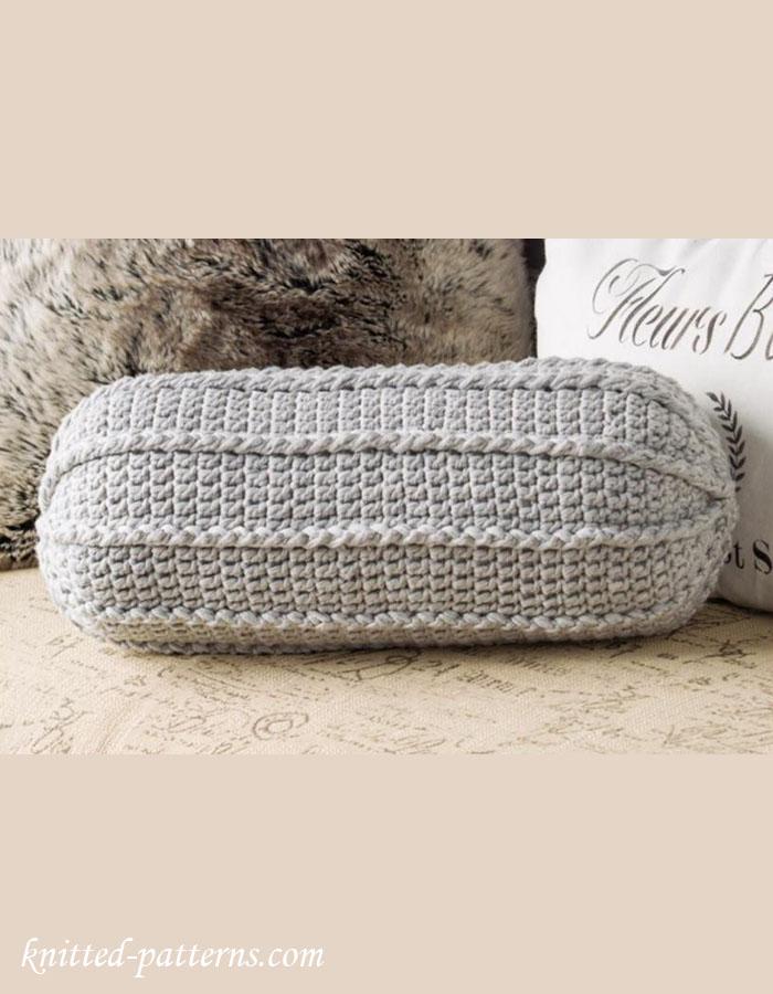 Neck roll pillow crochet pattern