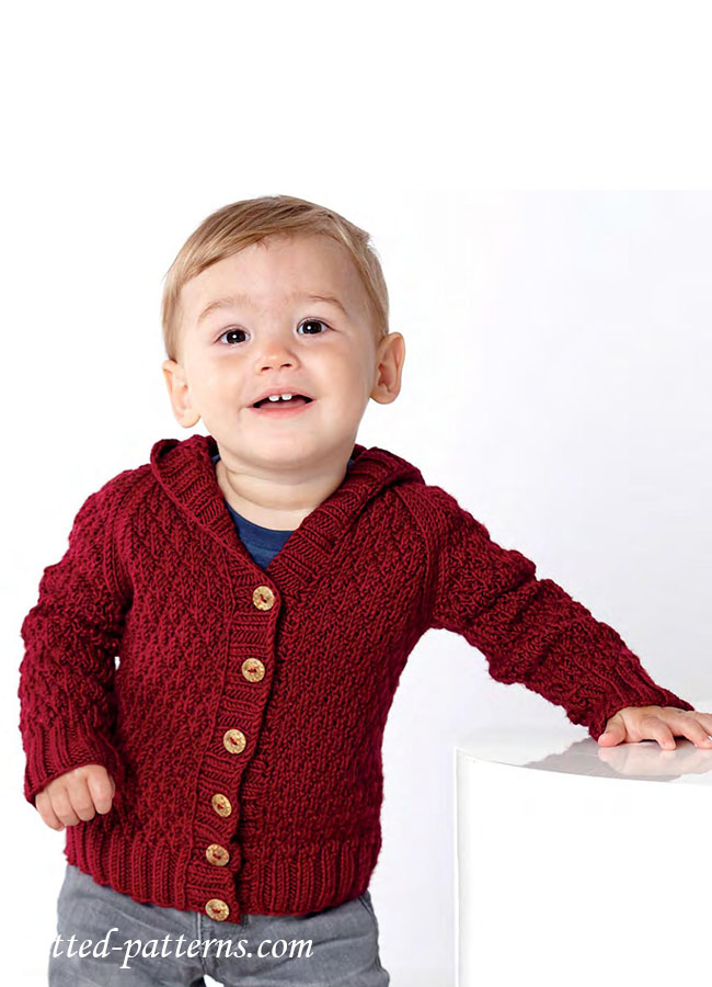 Hoodie Knitting Pattern For Babies And Toddlers : Baby hoodie knitting pattern