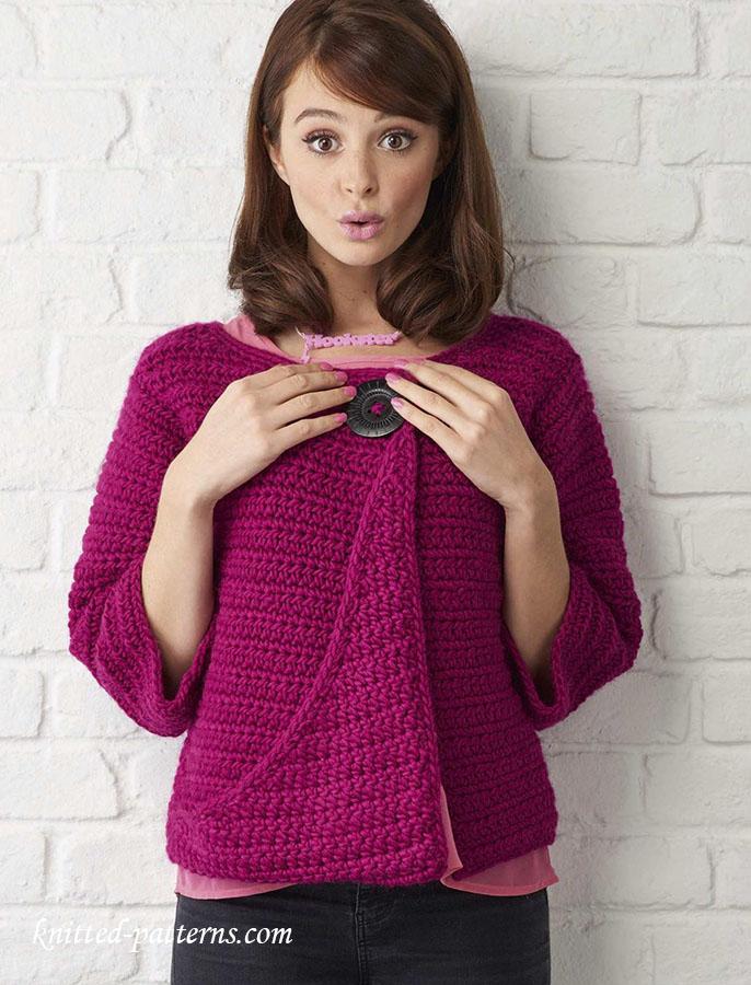 Free Knitting Pattern Cropped Jacket : Cropped jacket knitting pattern