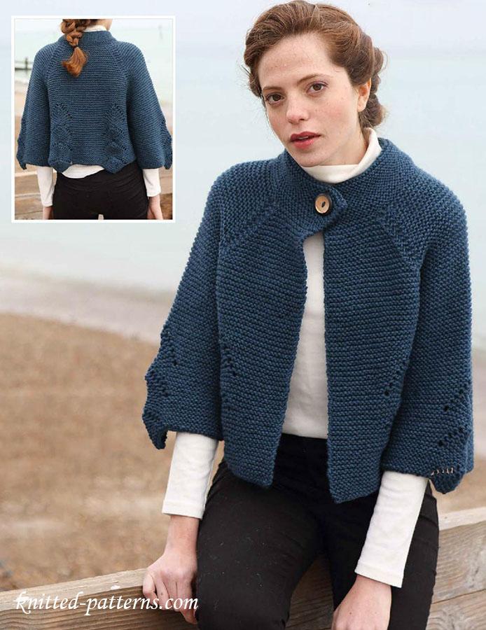 Raglan Jacket Knitting Pattern : Cropped raglan jacket knitting pattern
